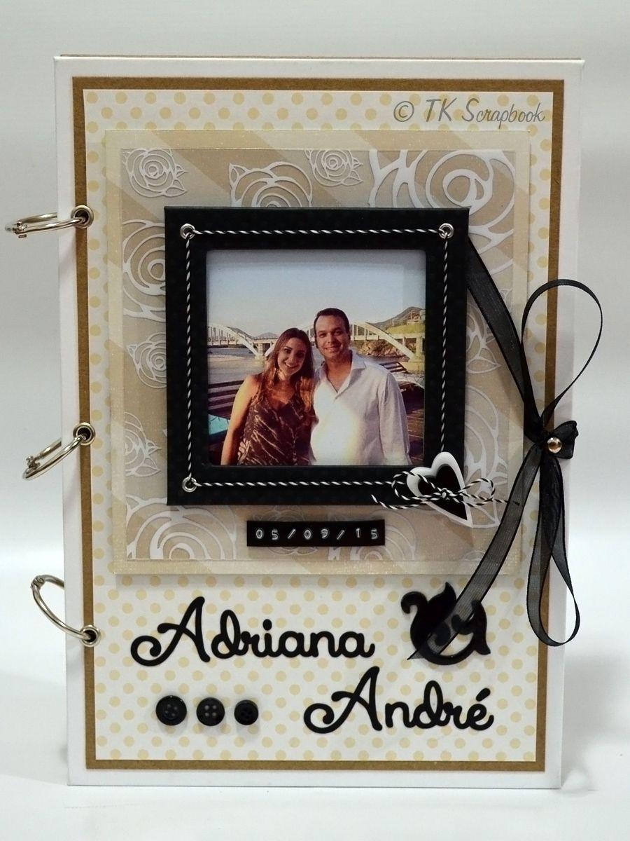 Album De Fotos Em Scrapbook Para Casamento Visao Geral Da