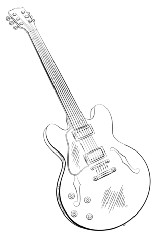 Guitarra Eléctrica Dibujo para colorear … | drawing in 2018…