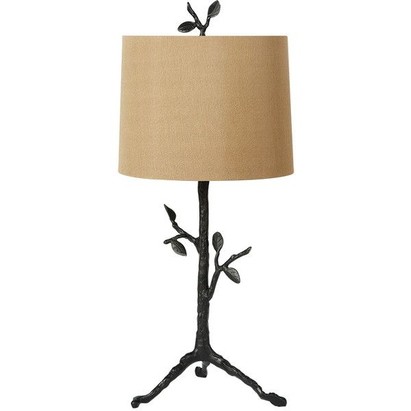 Tree Table Lamp With Brown Shade (1.580 VEF) ❤ liked on Polyvore featuring home, lighting, table lamps, tree lights, energy efficient lighting, brown shades, brown table lamps and tree lamp