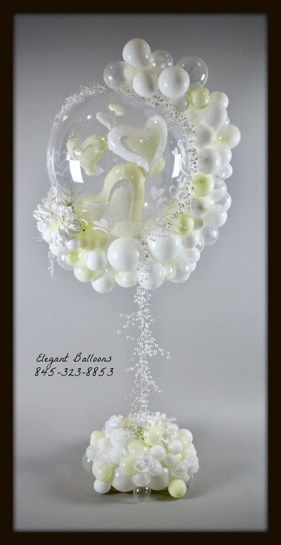 Wedding decoration ideas with balloons  Wedding love Centerpiece hearts bubble by Elegant Balloons  Bubbles