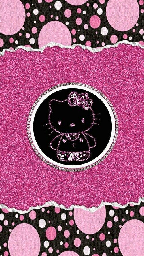 Pink Glitter Hello Kitty Wallpaper Kitty Wallpaper Hello