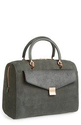 Ted Baker London 'Alexia' Removable Clutch Embossed Bowler Bag