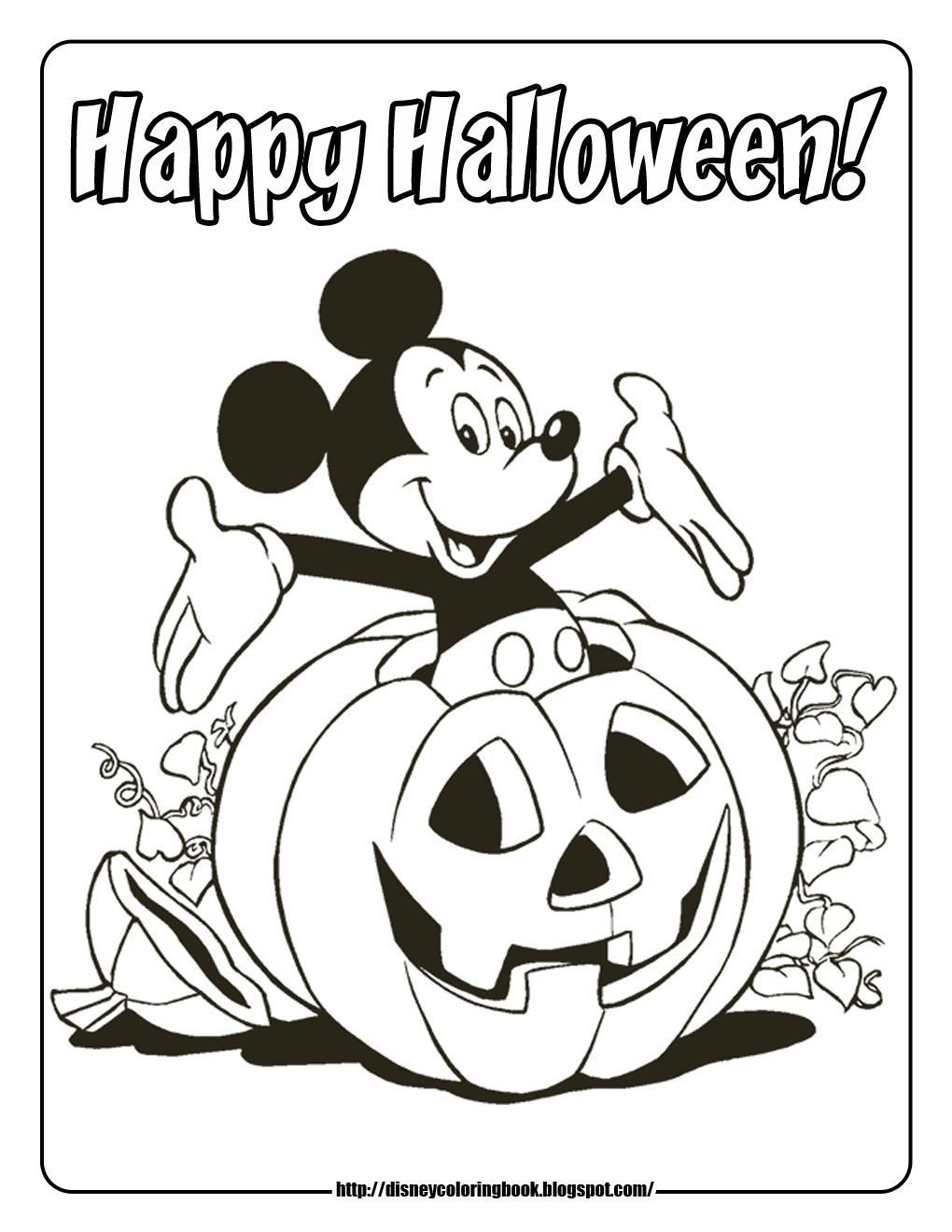 Mickey Mouse Club House Coloring Pages Viewing Gallery For Mickey Mouse And Free Halloween Coloring Pages Halloween Coloring Pictures Halloween Coloring Pages