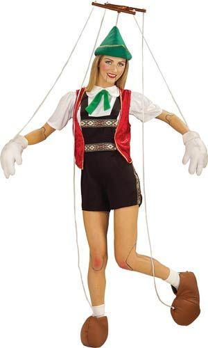 Wooden Girl Puppet Pinocchio Toddler Girls Halloween Costume