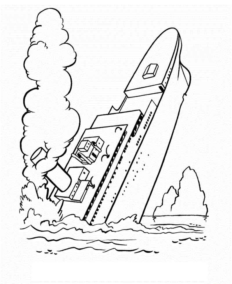 Titanic Coloring Pages Free Sketsa Kesehatan Gigi Kapal