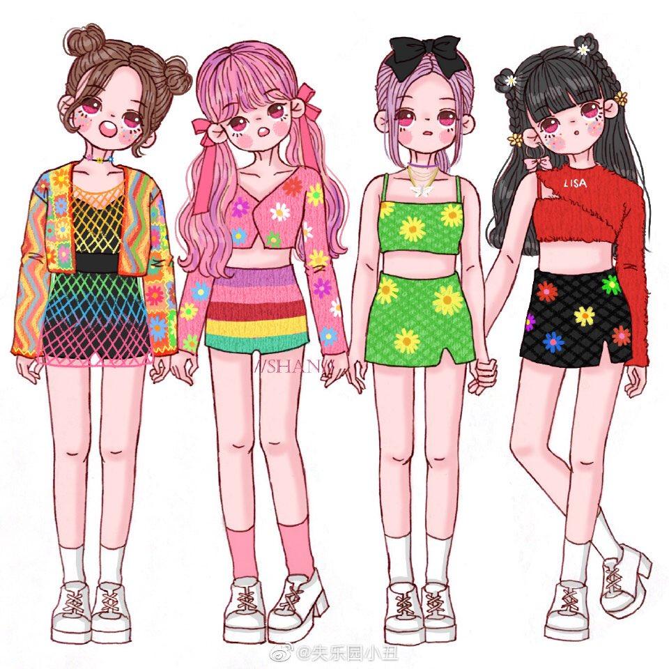 BLACKPINK Ice Cream Event Jisoo Jinyoung, Lisa e Jennie