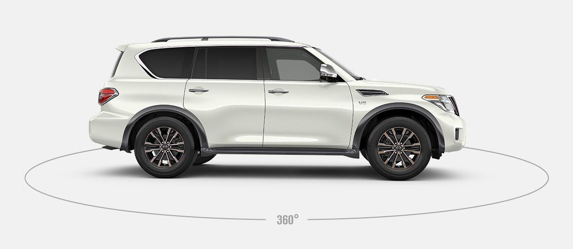 2017 Nissan Armada Side View Facing Right White Nissan Armada Suv Lease Nissan