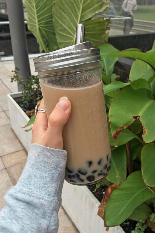 Reusable Bubble Tea Kit Green Plug Bubble Tea Bubble Tea Straws Smoothie Cup