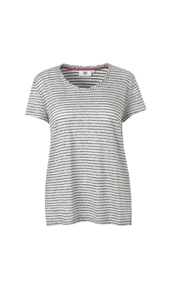 Weiches basic T-Shirt - Weißgrau