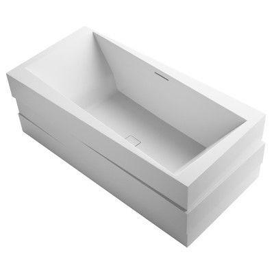 Kohler Askew Freestanding Bath with Center Toe-Tap Drain