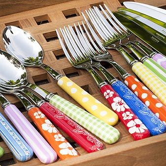 Colourful cutlery from Paris. It would perfectly match our dishes. \u2014Sabre Buntes Besteck  sc 1 st  Pinterest & Colourful cutlery from Paris. It would perfectly match our dishes ...