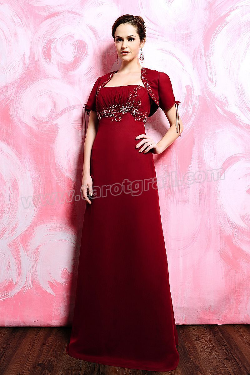 Embroidery Strapless Jacket Red Dress for Evening | Evening Dresses ...