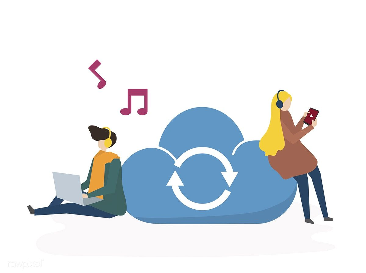 Download premium vector of Illustration of online music