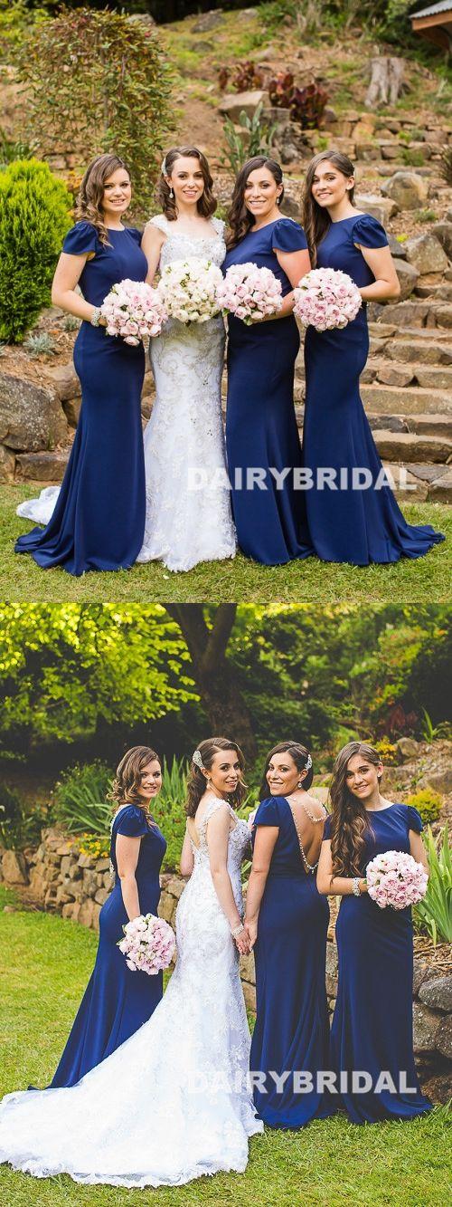ee9dffad8bdd Charming Round Neckline Bridesmaid Dress, Backless Mermaid Bridesmaid Dress,  D747