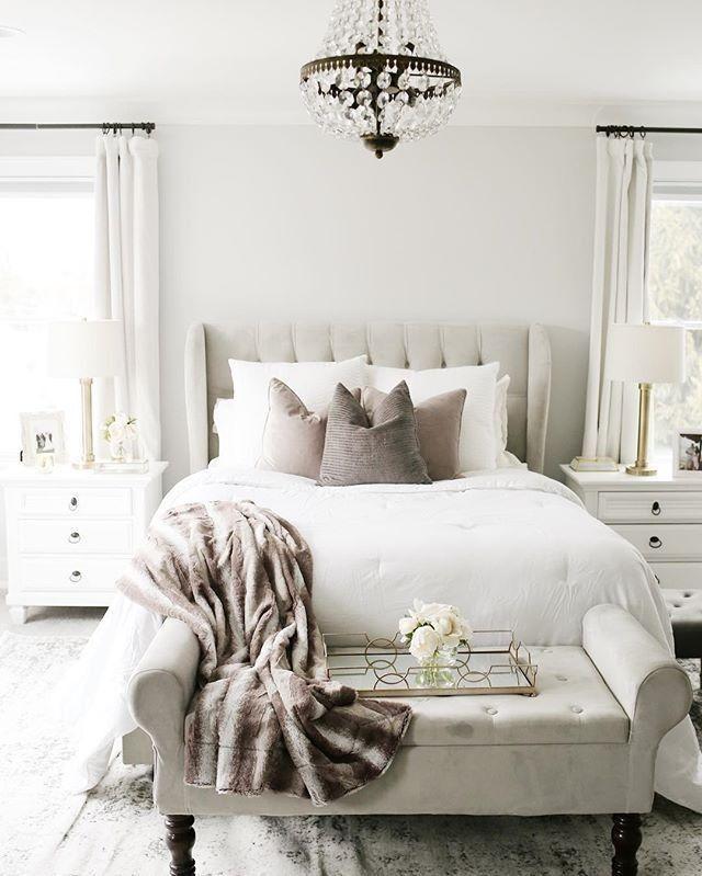 Grey Cozy Chic Bedroom Greybedroom Modernbedroom Master Bedrooms Decor Home Decor Bedroom Bedroom Interior