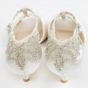 Rosetta By The Perfect Bridal Shoe Company Ivory Beaded T Bar Vintage Wedding Or Occasion Shoes