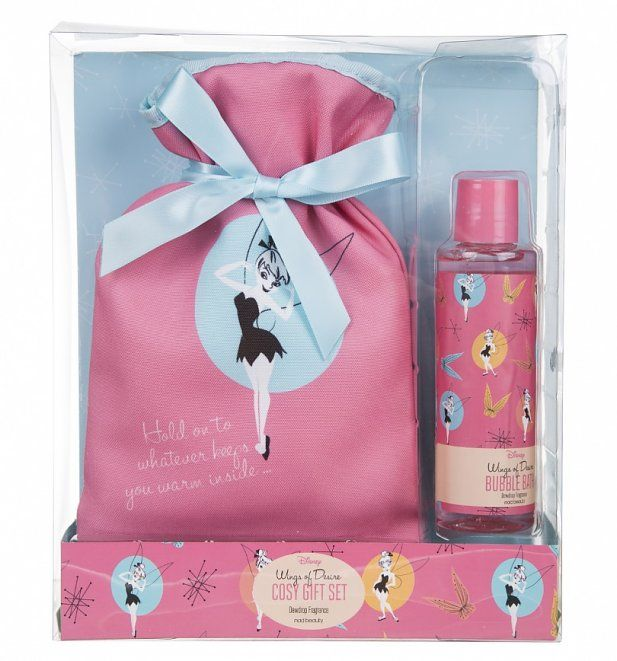 Tinker Bell Disney Cosy Care Hot Water Bottle and Bubble Bath Gift Set. Tinker Bell Disney Cosy Care Hot Water Bottle and Bubble Bath Gift