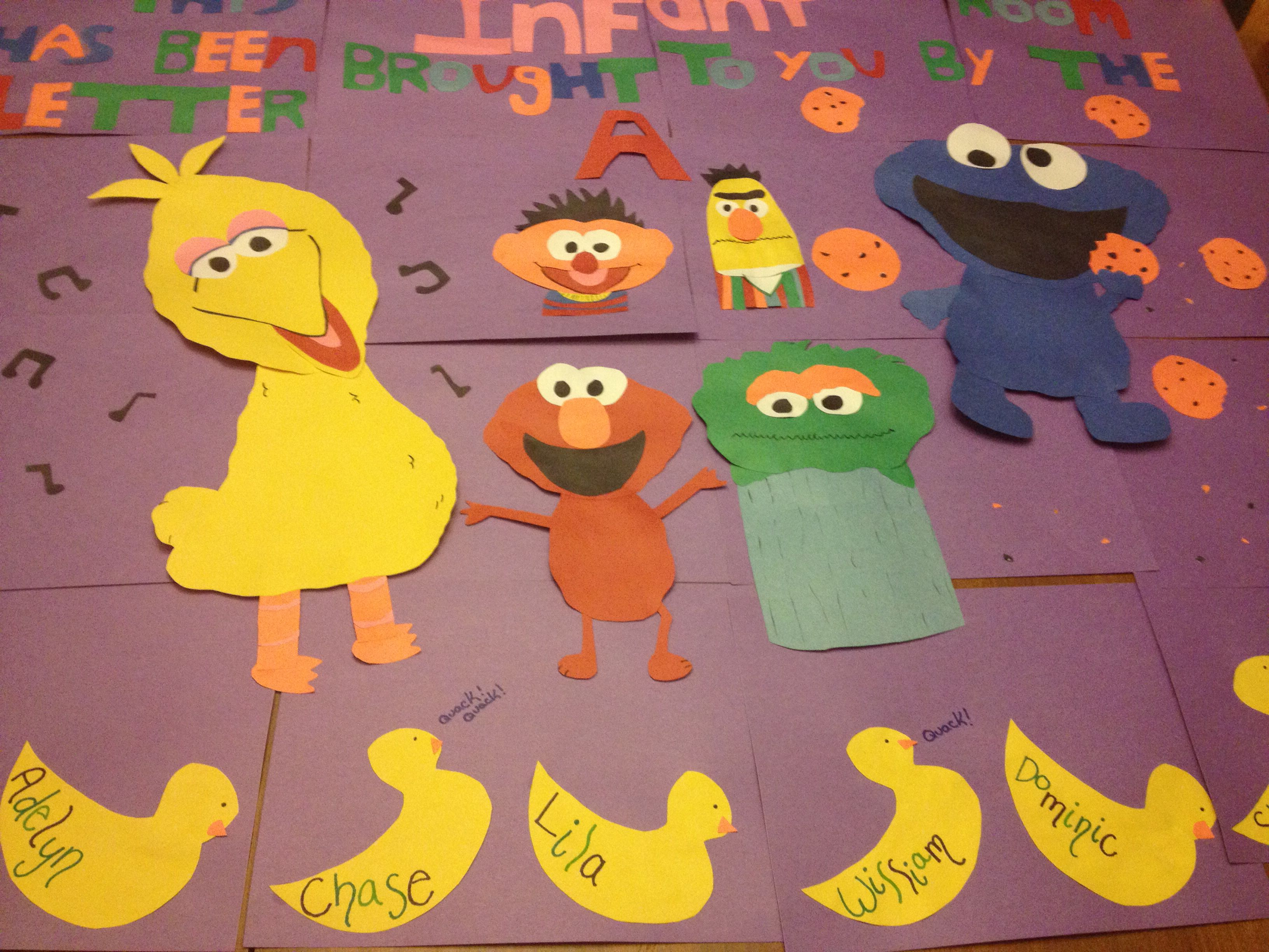 Infant Bulletin Board Sesame Street Infant Preschool