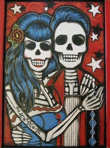 Rockabilly Dia de los Muertos | La Catrina Y Los Muertos ...