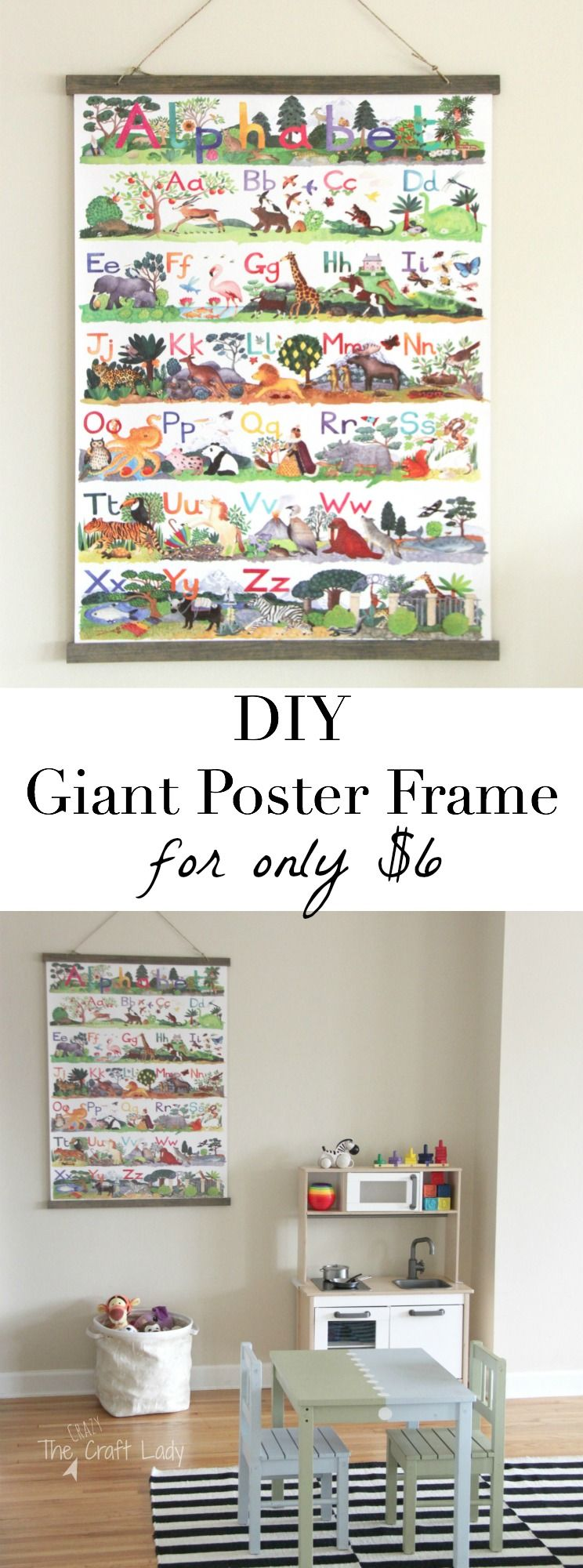 How to make a large poster frame for only large poster frames