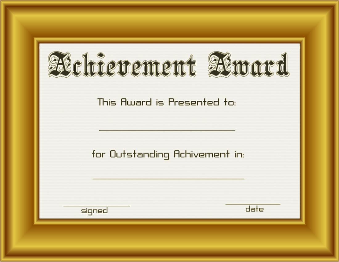 achievement award in gold frame | Public domain Vintage Images ...