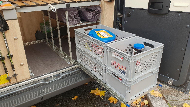 Vollauszug im Wohnmobil Heck selber bauen  womoliebe.de