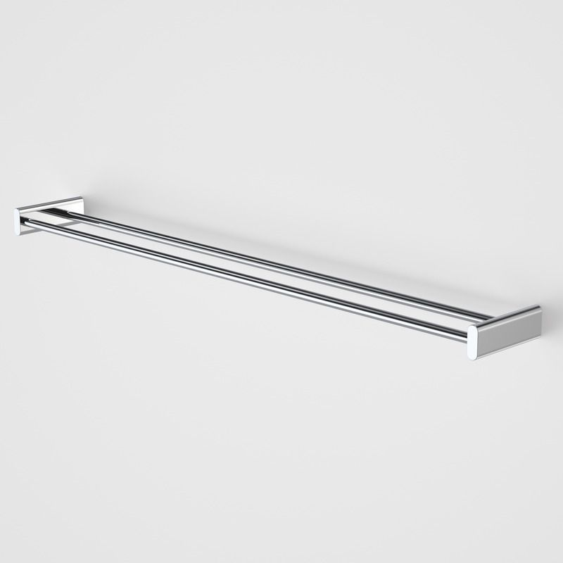 track double towel rail 800mm httpwwwcaromacom double towel railsbathroom accessoriestowelstrackbathrooms