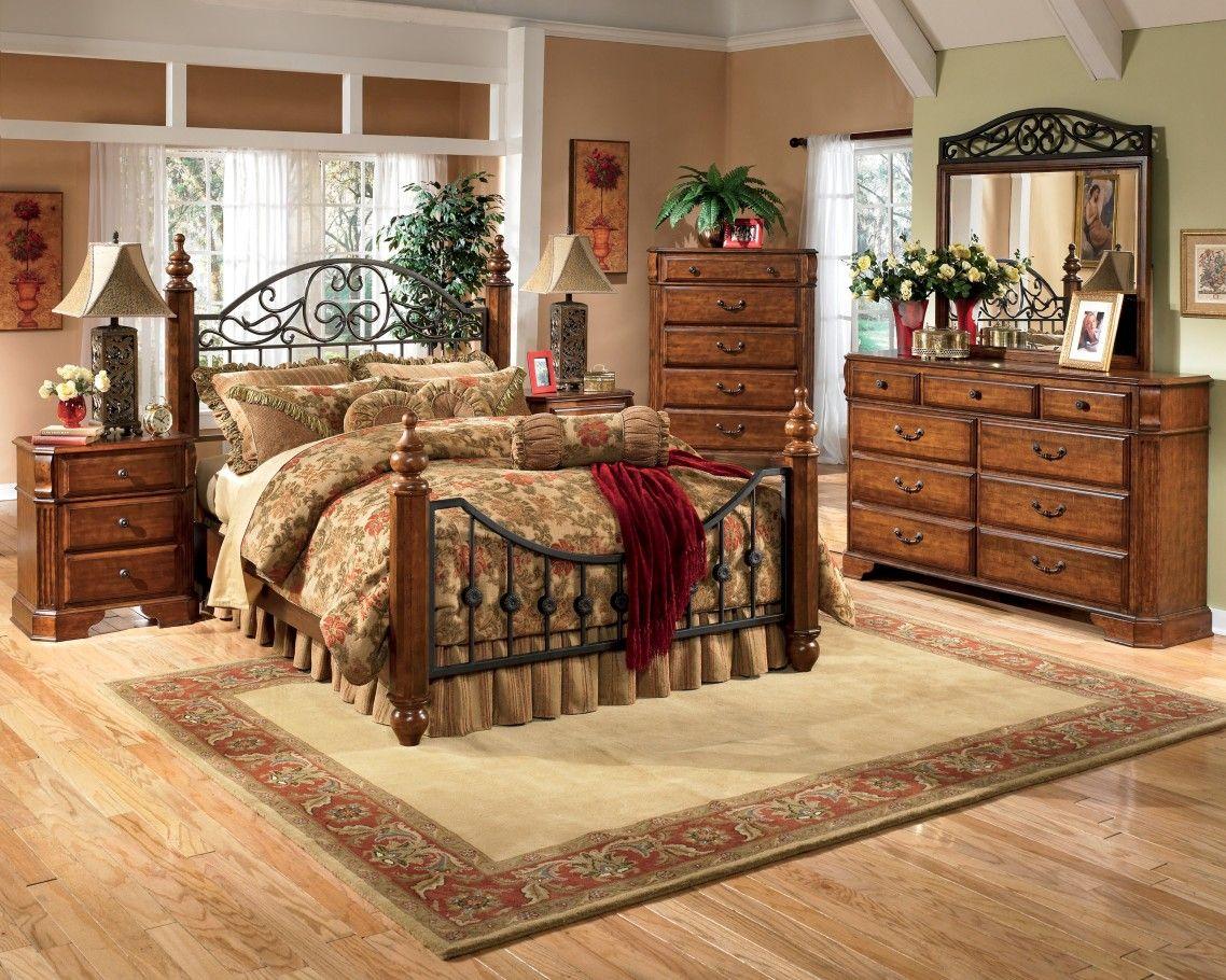 Deluxe Dark Cherry Mahogany Dresser Bedroom With Carving ...