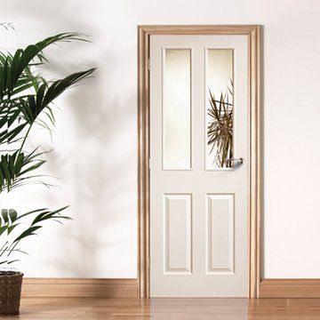Moulded 2p2l white primed door with clear safety glass safety moulded 2p2l white primed door with clear safety glass safety glass internal doors and glass internal doors planetlyrics Gallery