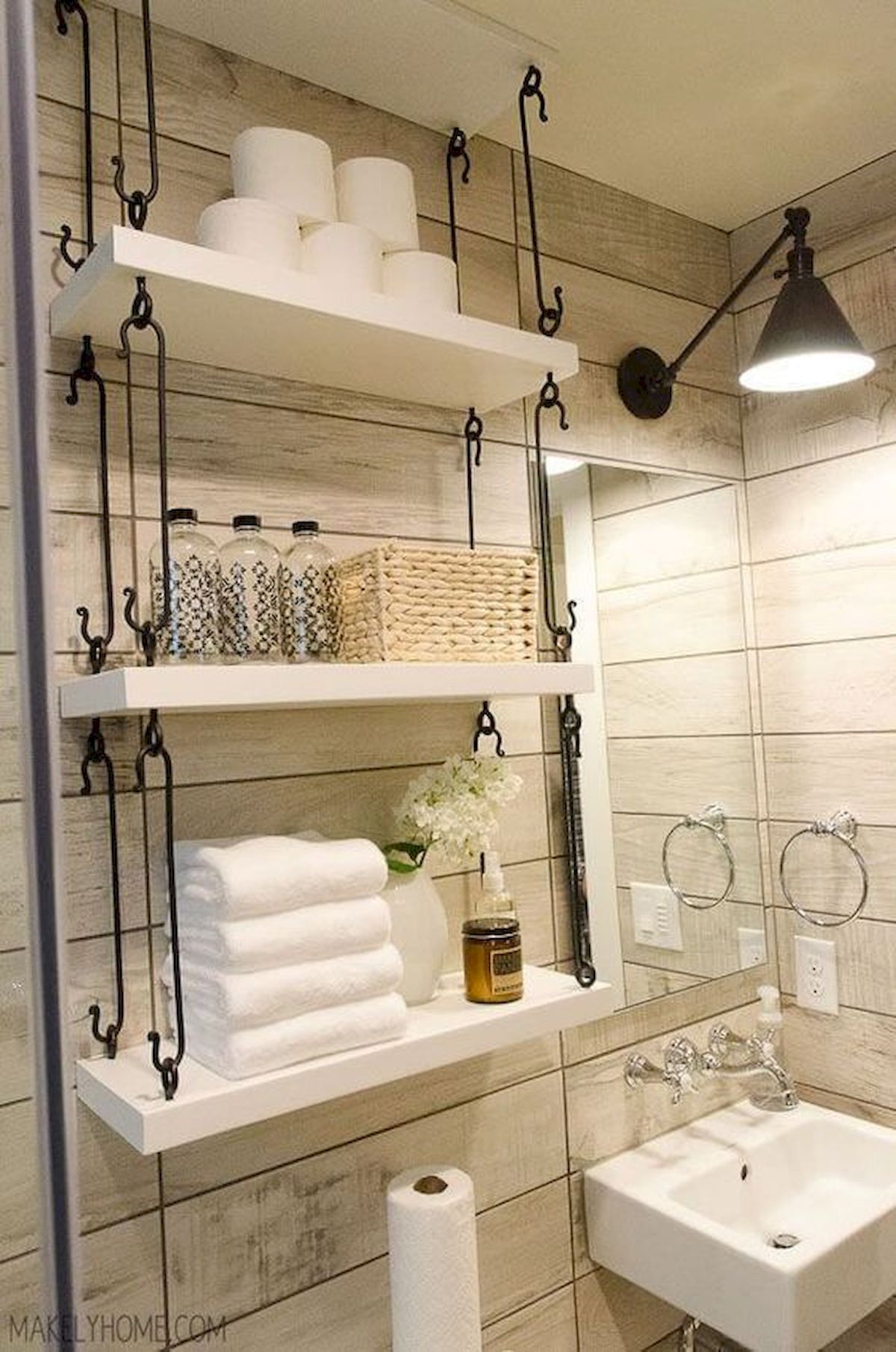 Awesome 25 Creative Bathroom Storage Ideas For Small Spaces Https Roomadness Com 2018 07 30 25 Creative Small Bathroom Remodel Small Bathroom Toilet Shelves