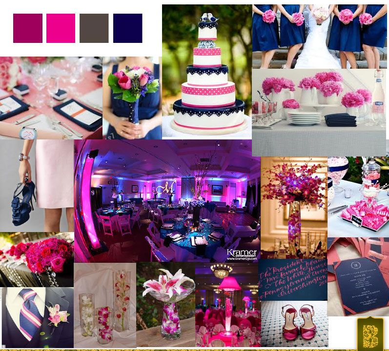 Navy blue fuschia wedding on pinterest fuschia wedding Navy purple color