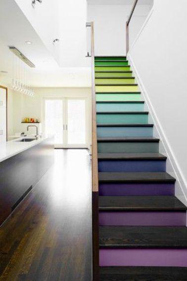 Quelle couleur pour repeindre un escalier escalier pinterest amenagement escalier for Quelle peinture pour escalier