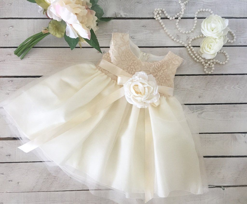 Baby dresses for wedding  Ivory Vintage Lace Baby Girl Dress Perfect Flower Girl Dress  My