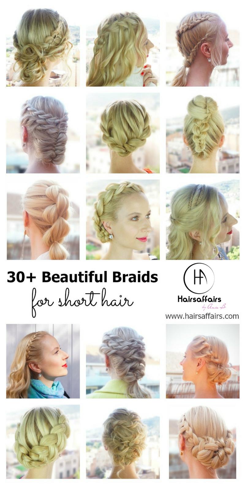 beautiful braids for short hair coiffage tresses pinterest