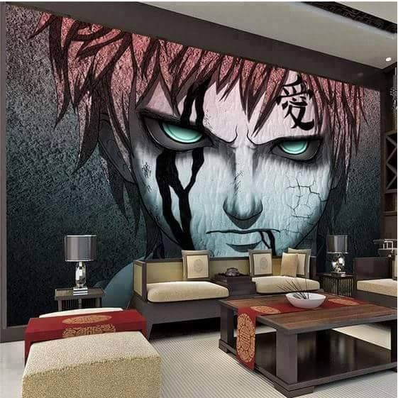 Awesome anime room naruto pinterest anime room and for Anime bedroom ideas