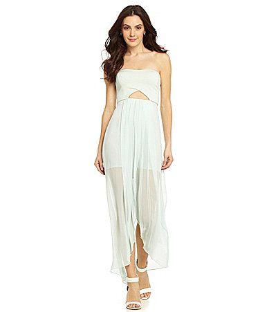 b3489e3fdf4 BCBGeneration Cutout Maxi Dress  Dillards