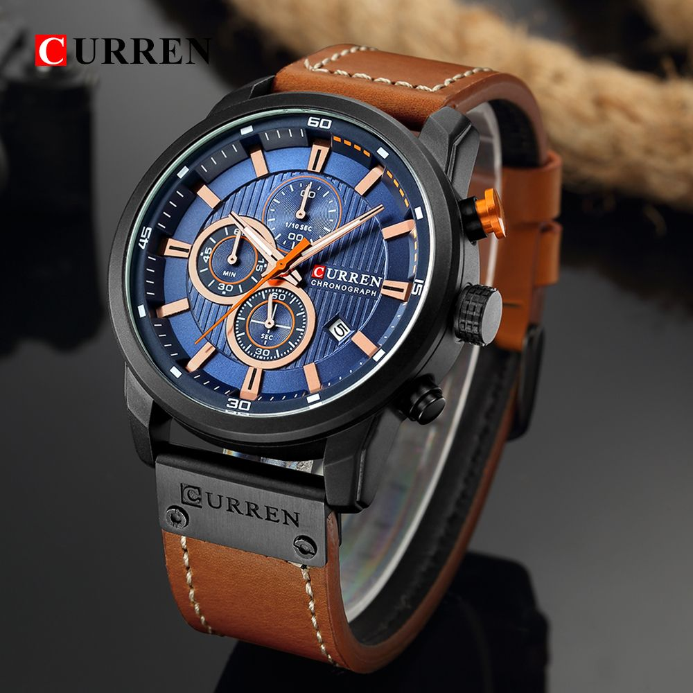 Curren Watch Top Brand Man Watches With Chronograph Sport