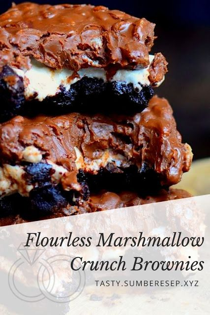 Photo of Flourless Marshmallow Crunch Brownies