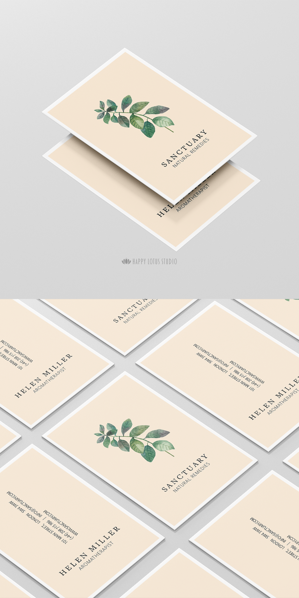 Modern and elegant nature inspired business card | Card | Pinterest