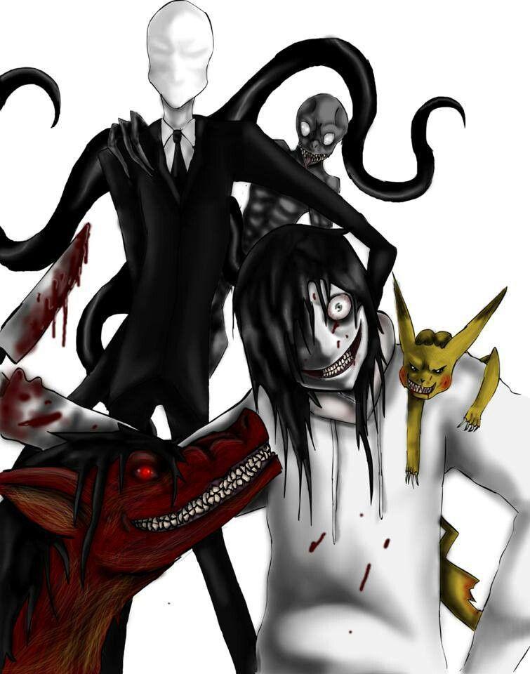 Jeff the killer and slender man | Creepypasta | Pinterest ...
