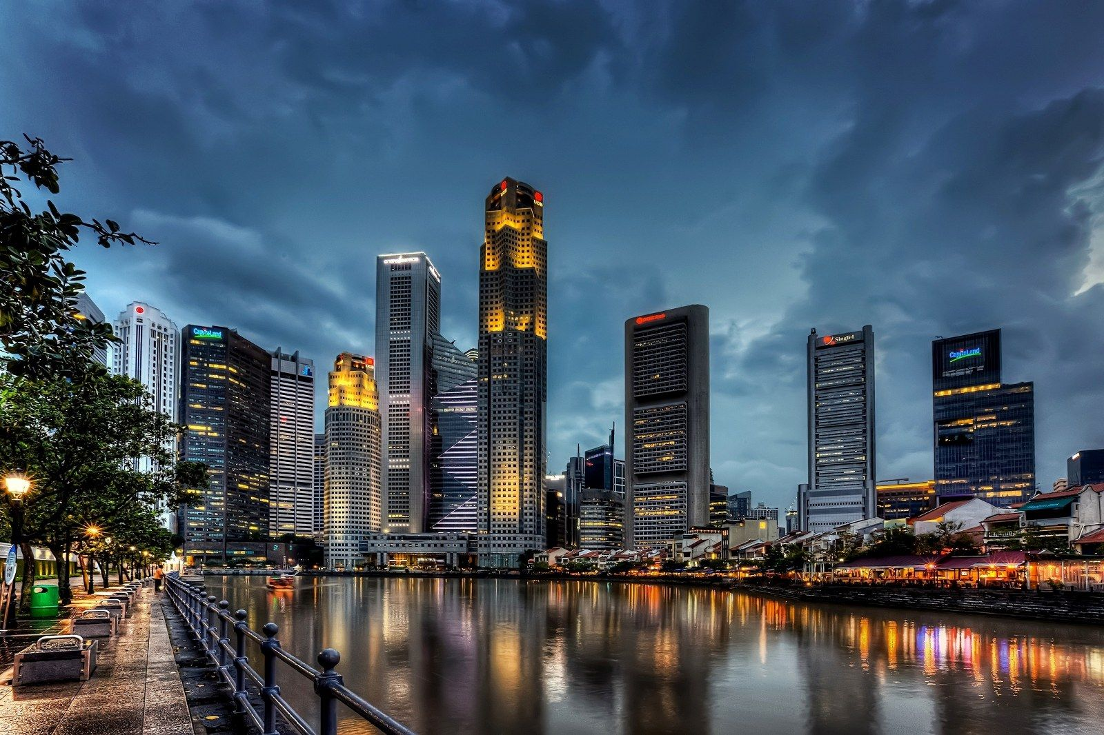Collection Of City Wallpaper Desktop On Hdwallpapers 2560 1024 Desktop Backgrounds Cities 35 Wallpapers Adora Singapore City View Wallpaper City Background