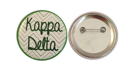 Kappa Delta Chevron Script Button from GreekGear.com