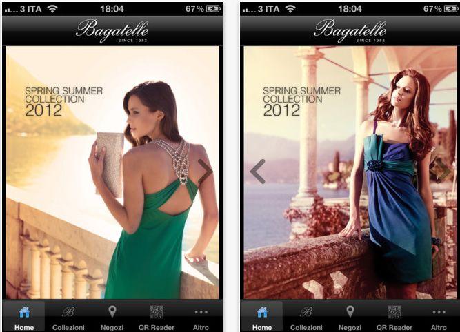 Bagatelle #abitieleganti.  Estensa realizza la nuova #app per #Iphone e #Ipad.