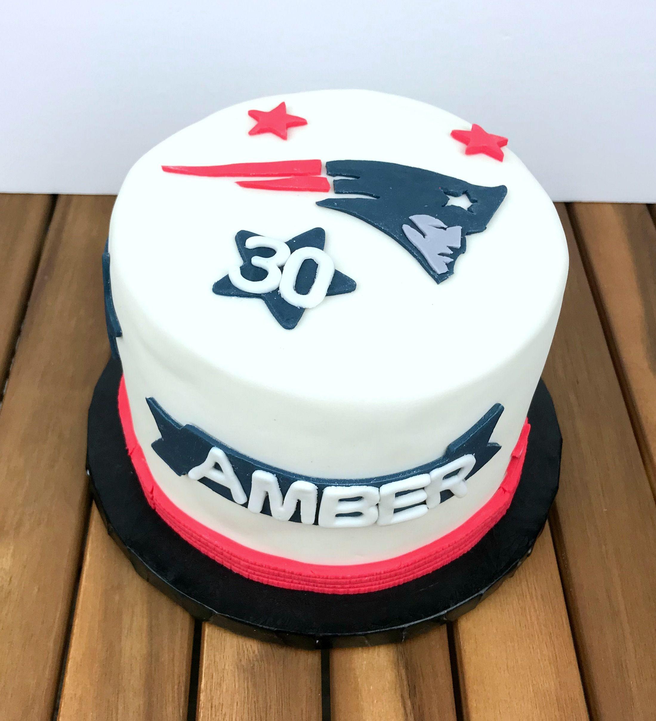 30th Birthday New England Patriots Cake Patriotic Cake Cake Bakery