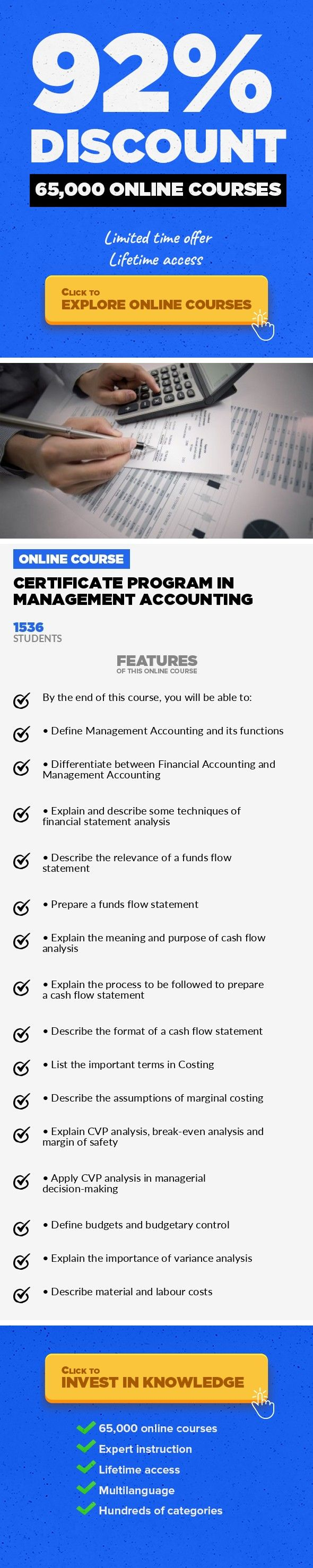 Certificate Program In Management Accounting Finance, Business Learn ...