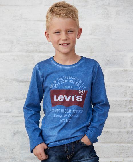 0f94a051 Levi's Bluebat LS T-shirt | Mørk vinter familie | Shirts, T shirt og ...