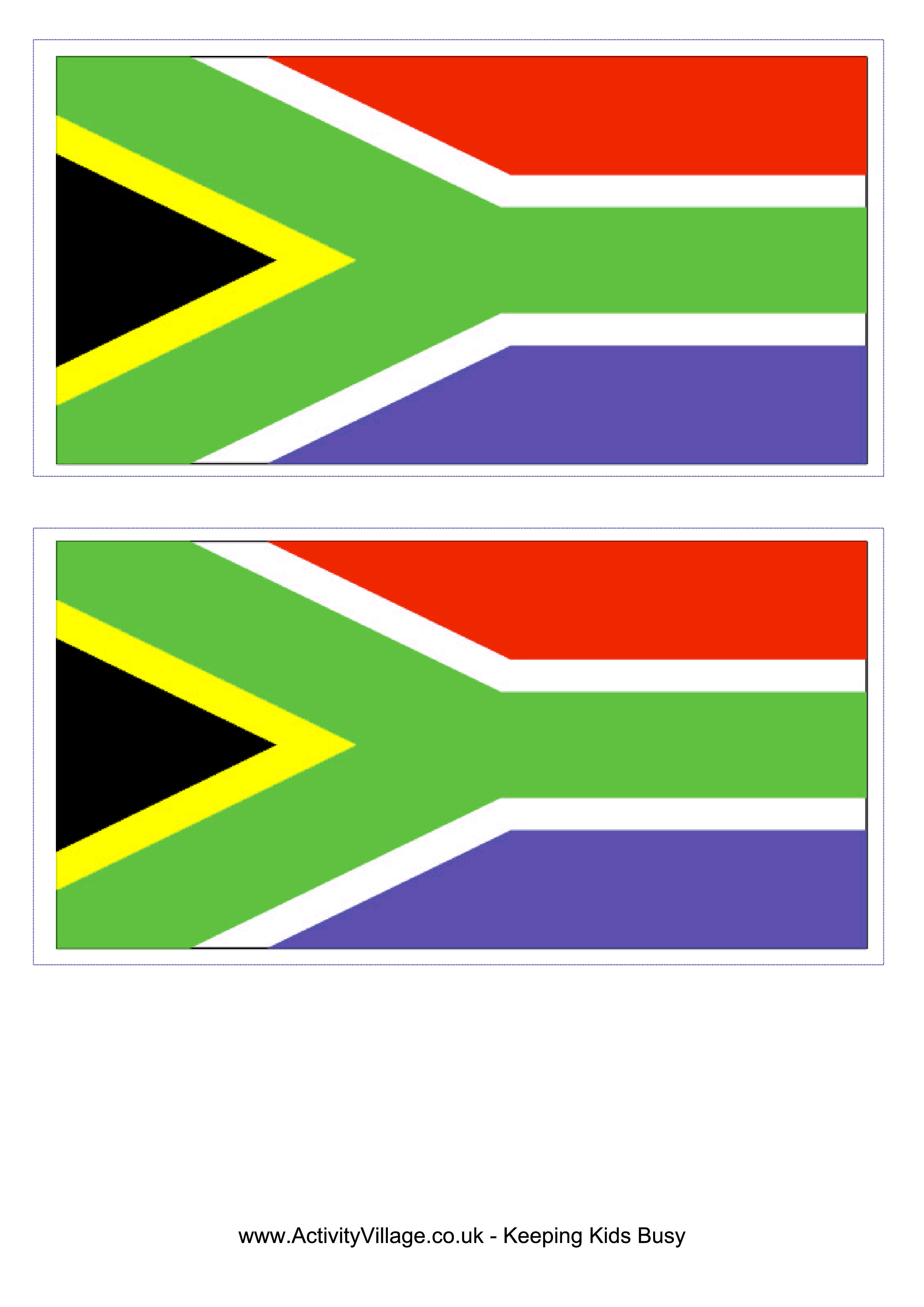 South African Flag  Free Printable South African Flag  templates