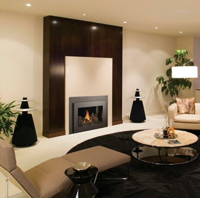 Salones con chimenea 65 ideas ardientes chimeneas - Colores salones modernos ...