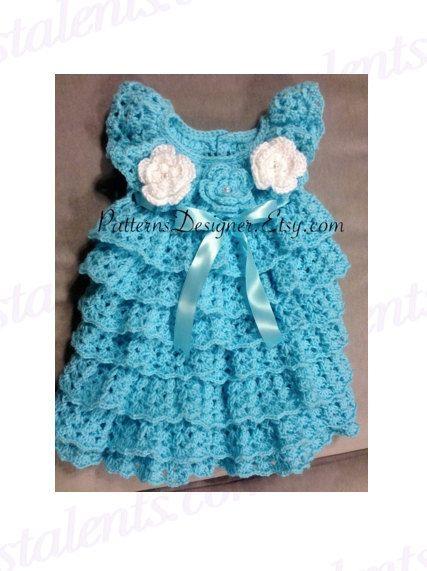 Ruffled Baby Dress Crochet Pattern Httpsknitting Bordado