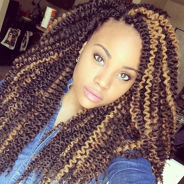 41 Chic Crochet Braid Hairstyles For Black Hair Braided